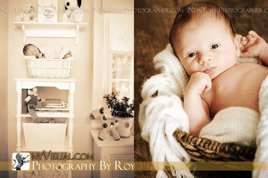 At home newborn portraits