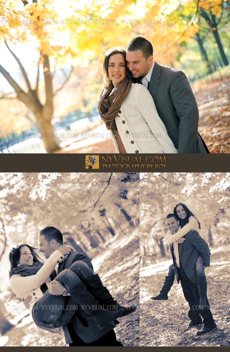 Fall Engagement Photography in NYC